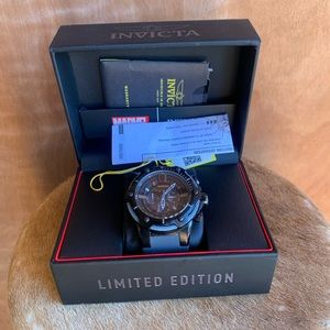 Limited edition invicta marvel black panther watch